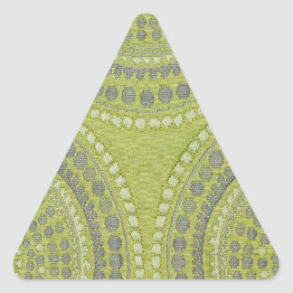 Fabric Texture Green Circle Grey Vintage Cool Patt Triangle Sticker