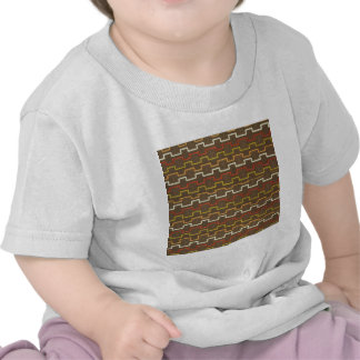 Fabric Textures Vintage Retro 70s Zig Zag Pattern T-shirt