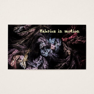 Fabrics in motion business card