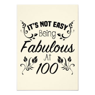 Fabulous 100th Birthday Card