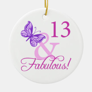 Fabulous 13th Birthday Ceramic Ornament