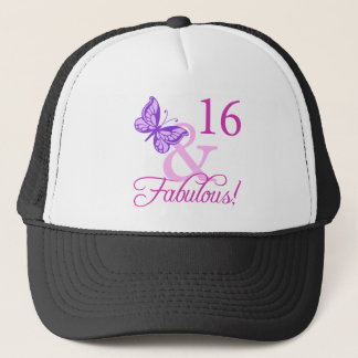 Fabulous 16th Birthday Trucker Hat