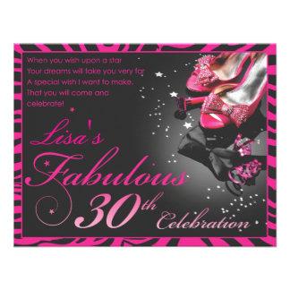 Fabulous 30th personalized invitation