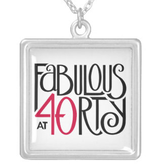 Fabulous 40 black red Square Necklace