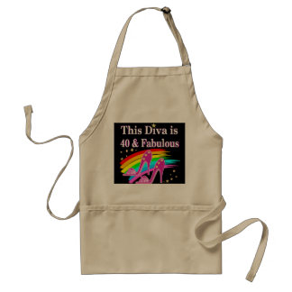 FABULOUS 40TH SHOE QUEEN STANDARD APRON