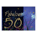 Fabulous 50th Birthday! Greeting Card
