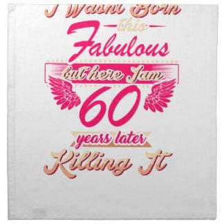 Fabulous 60th year birthday party gift tee napkin