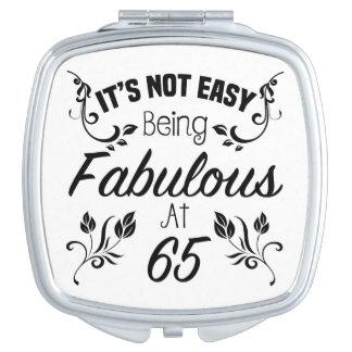 Fabulous 65th Birthday Compact Mirrors