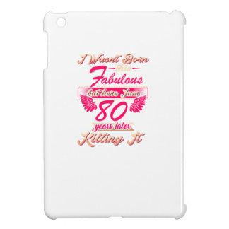 Fabulous 80th year birthday party gift tee iPad mini cases