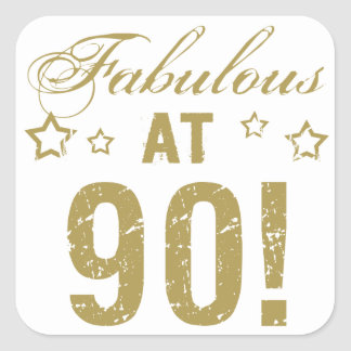 Fabulous 90th Birthday Square Sticker