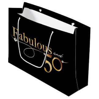 Fabulous and 50   Large Gift Bag