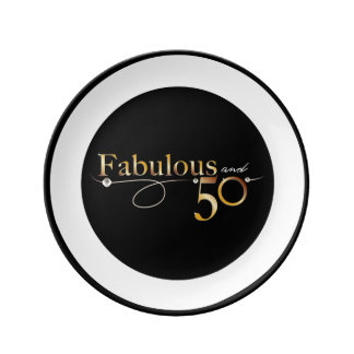 Fabulous and 50 | Porcelain plate