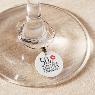 Fabulous and Fifty Wine Charms