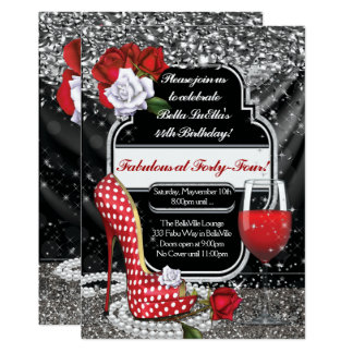 Fabulous and Flirty Party Invitations