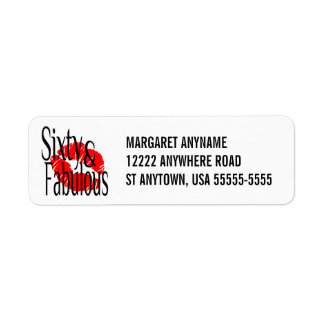 Fabulous and Sixty Label Return Address Label