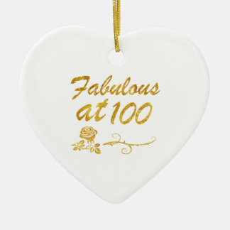 Fabulous at 100 years ceramic ornament