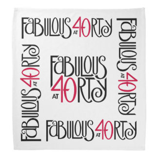 Fabulous at 40rty black red Bandana