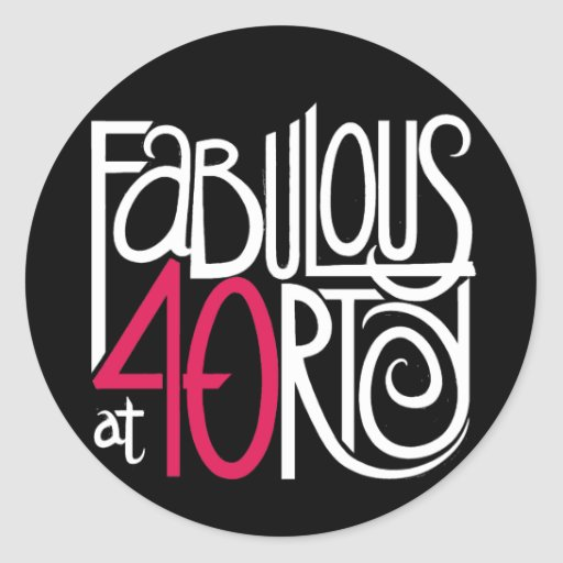 Fabulous at 40rty Dark Sticker