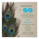 Fabulous at 60 60th Birthday Party Invitation 13 Cm X 13 Cm Square Invitation Card
