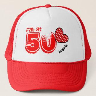 Fabulous at Fifty Custom Name V16 Cap