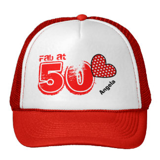 Fabulous at Fifty Custom Name V16 Cap