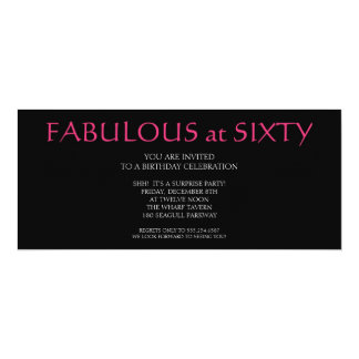 fabulous at sixty; birthday card