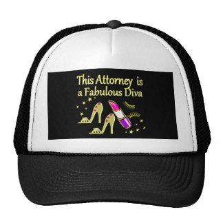 FABULOUS ATTORNEY DIVA DESIGN CAP