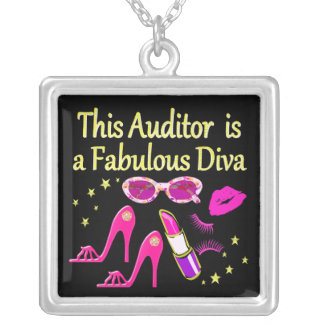 FABULOUS ATTORNEY DIVA DESIGN SILVER PLATED NECKLACE