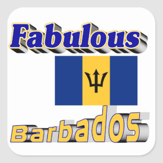 fabulous barbados square sticker
