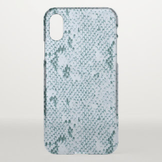 Fabulous Blue and White Snakeskin iPhone X Case