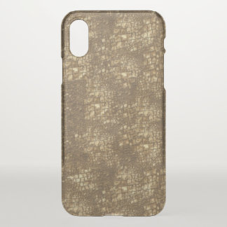 Fabulous Brown Snakeskin Pattern iPhone X Case