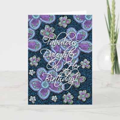 festive and beautiful flower card for your daughter's b