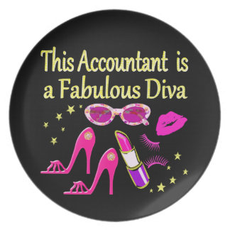 FABULOUS DIVA ACCOUNTANT DIVA PARTY PLATE