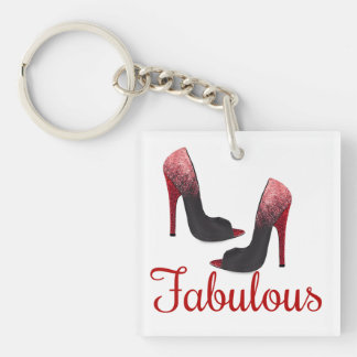 Fabulous double Sided Square Keychain