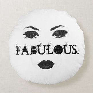 Fabulous faced round cushion