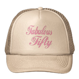 Fabulous Fifty 50th Birthday Gifts Cap