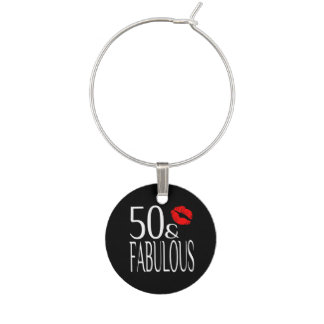 Fabulous Fifty Wine Charms