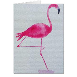 Fabulous flamingo birthday card