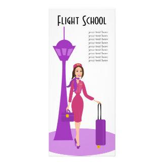 Fabulous Flight Attendant Rack Card Design