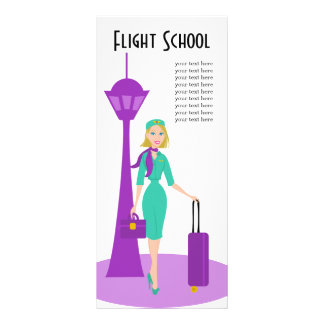 Fabulous Flight Attendant Rack Card Template