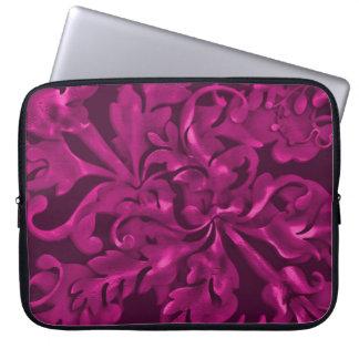 Fabulous Foliage Magenta Laptop Computer Sleeve