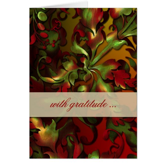 Fabulous Foliage Thank You Card