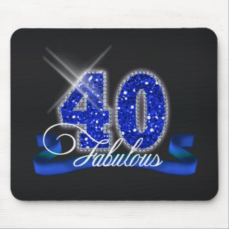 Fabulous Forty Sparkle Mousepads