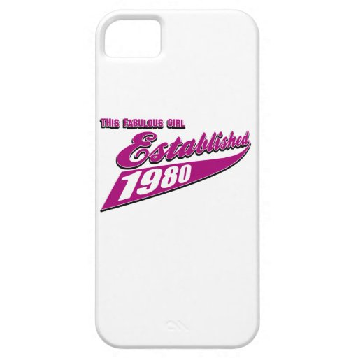 Fabulous Girl established 1980 iPhone 5 Cover