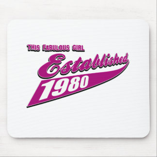 Fabulous Girl established 1980 Mousepads
