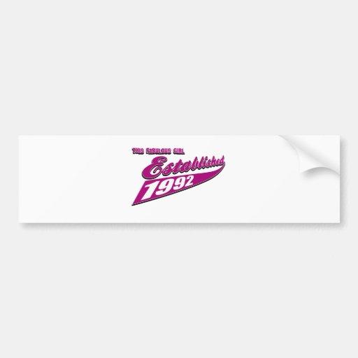 Fabulous Girl established 1992 Bumper Sticker