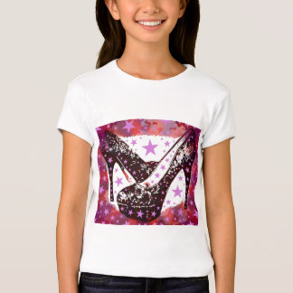 Fabulous Glam High Heels and Stars Girls Night Out T Shirts