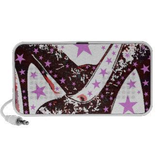 Fabulous Glamourous Pink Purple High Heels Stars Travel Speaker