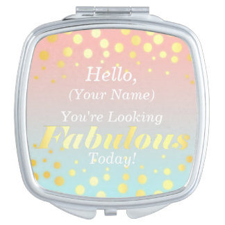 Fabulous gold compact mirror