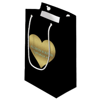 Fabulous Gold Heart Party Gift Bag